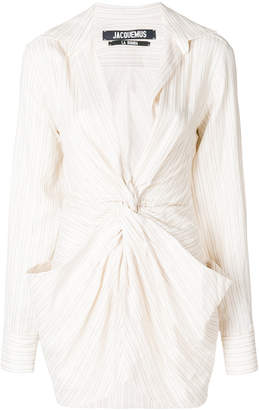 front knot-detail dress