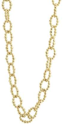 """Lagos Caviar Gold Collection 18K Gold Beaded Link Necklace, 32"""""""