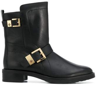 Högl double buckle flat boots
