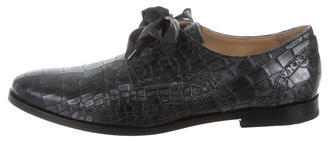 Cole Haan Embossed Round-Toe Oxfords $75 thestylecure.com
