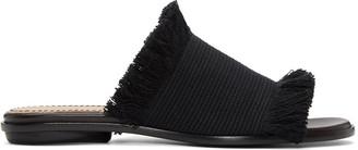 Proenza Schouler Black Canvas Sandals $525 thestylecure.com