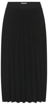 Hugo Boss Vikina Pleated Flared Skirt 6 Black $495 thestylecure.com