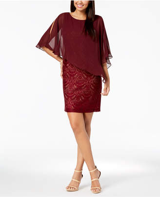 Connected Lace & Chiffon Popover Dress