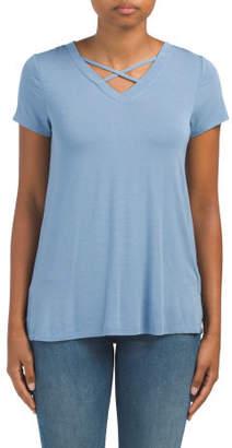Cross Neck T Shirt