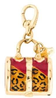 Charm Rosato 18K Leopard Print Enamel Purse