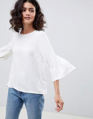 Just Female Garner Fluted Sleeve Blouse