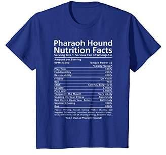 Pharaoh Hound Shirt   Funny Nutrition Facts T-Shirt