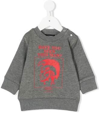Diesel punk print sweatshirt