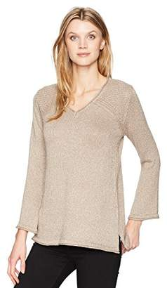 Democracy Women's Ribbed Lurex Sweater