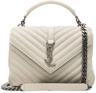 81f2e94468 Saint Laurent Medium Monogramme College Bag in Crema Soft | FWRD