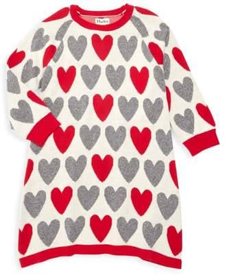 Hatley Little Girl's & Girl's Festive Hearts Sweater Dress