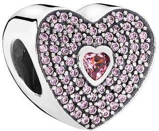 Pandora Silver Cz Pink Sweetheart Charm