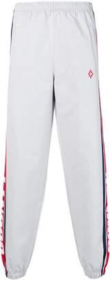 Marcelo Burlon County of Milan logo striped track trousers