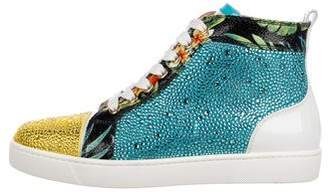 Christian Louboutin Strass Louis High-Top Sneakers