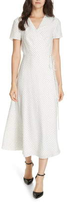 Jenni Kayne Dot Silk Wrap Dress