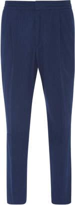 Officine Generale Drew Cotton Seersucker Pants