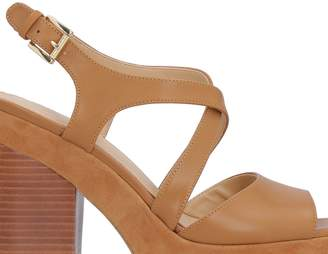 Michael Kors Leather Sandals With Heel
