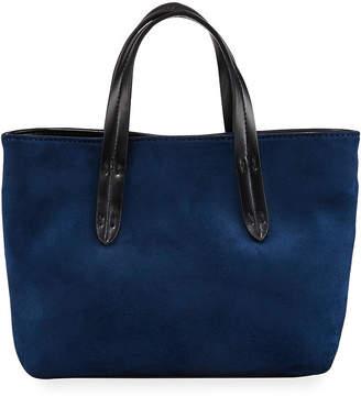 Neiman Marcus Mini Faux-Suede Crossbody Tote Bag
