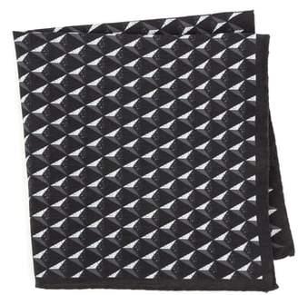 Ted Baker Geometric Silk Pocket Square