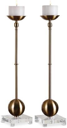 Uttermost Laton Brass Candleholders, Set of 2