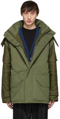 Yves Salomon Green Army Cotton Jacket