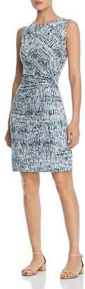 Nic+Zoe Sleeveless Printed Twist-Front Sheath Dress