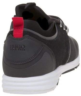 HUGO New Mens Black Hybrid Runn Mxsc Nylon Trainers Running Style Slip On