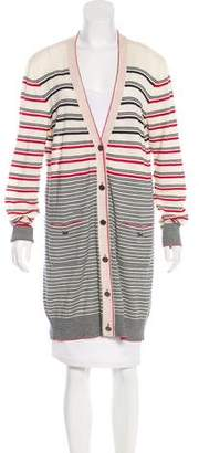 Chanel Striped Longline Cardigan