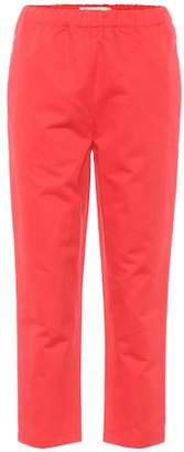 Marni Cotton and linen cropped trousers