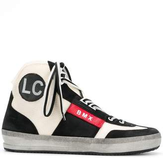 Leather Crown BMX hi-top sneakers