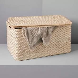 west elm Modern Weave Lidded Storage Basket - Whitewashed