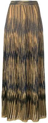 M Missoni lurex zigzag maxi skirt