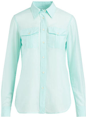 Ralph Lauren Lauren Cotton-Silk Shirt $79.50 thestylecure.com