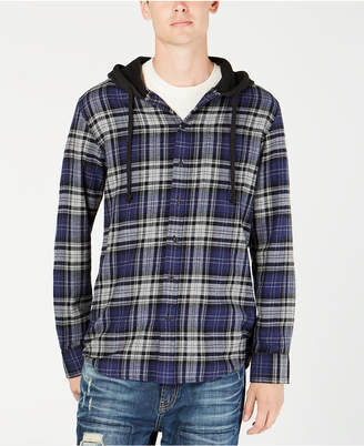 American Rag Men's Classic Fit Hooded Fallon Plaid Shirt, Created for Macy's