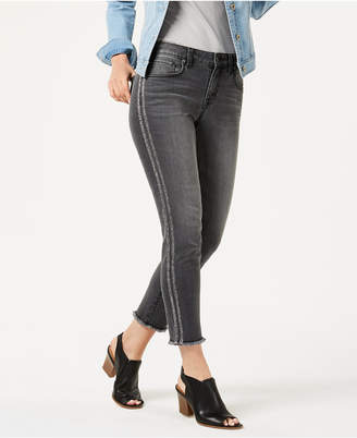 Style&Co. Style & Co Metallic-Stripe Skinny Jeans