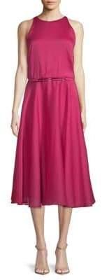 Halston Cut-Out Back Midi Dress