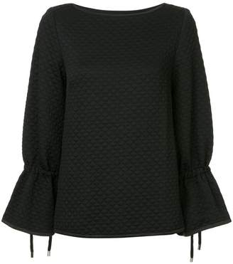 Osman quilted tie sleeve top