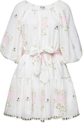 Juliet Dunn Floral Cotton Mini Dress