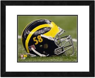 "NCAA Kohl's Michigan Wolverines Helmet Framed 11"" x 14"" Photo"