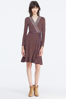 Kayleen Silk Jersey and Chiffon Wrap Dress $598 thestylecure.com