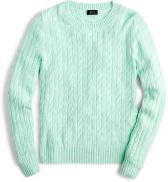 J.Crew Everyday Cashmere Cable Crewneck Sweater