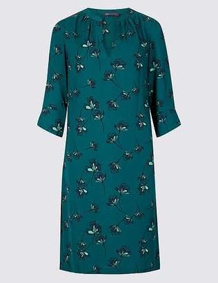 Marks and Spencer Satin Floral Print Shift Dress