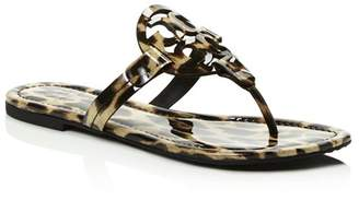 Tory Burch Women's Miller Leopard Print Thong Sandals
