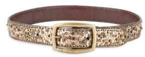Frye Deborah Embellished Leather Belt