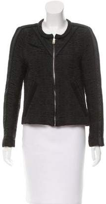 IRO Felicy Leather-Trimmed Jacket