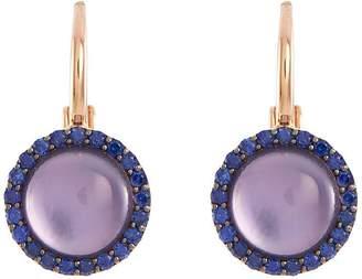 Roberto Coin 'Cocktail' amethyst quartz sapphire 18k rose gold earrings