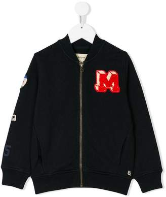 Bellerose Kids embroidered patch bomber jacket