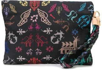 Ancient Greek Sandals abundance clutch bag