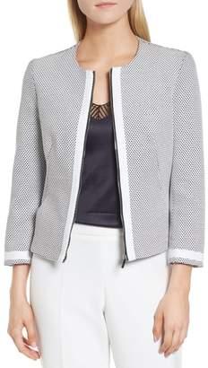 BOSS Kaily Cotton Jacquard Crop Jacket