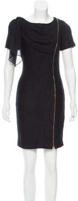 Christian Siriano Short Sleeve Mini Dress
